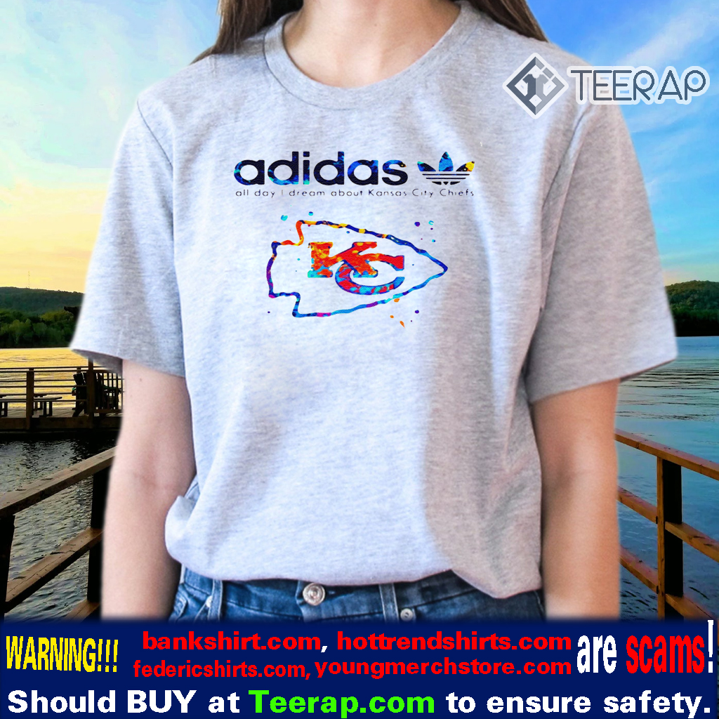 ADIDAS ALL DAY I DREAM ABOUT KANSAS CITY CHIEFS SHIRTS