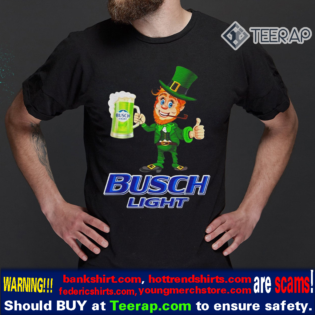 St Patrick's day Leprechaun drinking Busch Light t-shirts