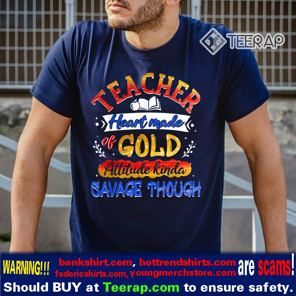 Teacher Heart Made Of Gold T-Shirt