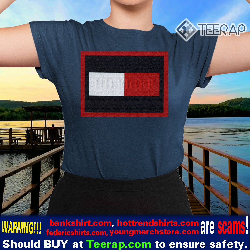Tommy Hilfiger Navy Embossed Frame TShirt