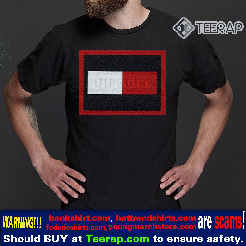 Tommy Hilfiger Navy Embossed Frame TShirts