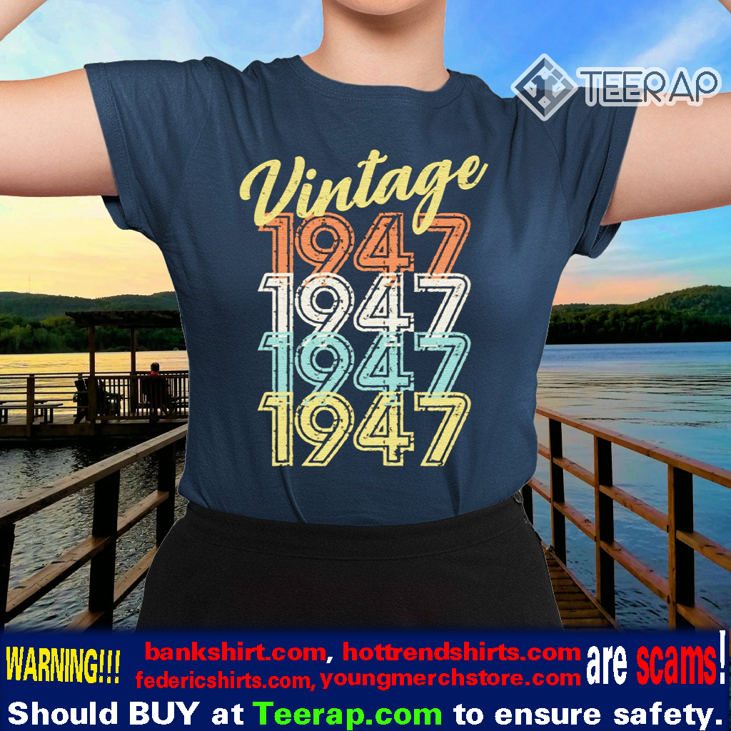 1947 Vintage Distressed 80's Retro TShirts
