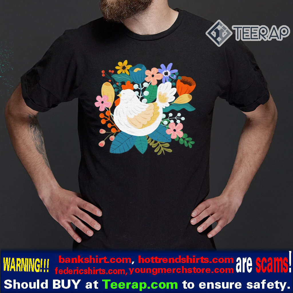 A Cheerful Chicken In A Sunny Garden T-Shirts