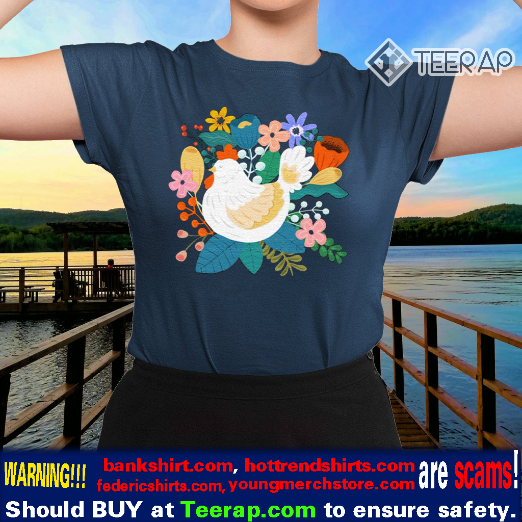 A Cheerful Chicken In A Sunny Garden TShirts