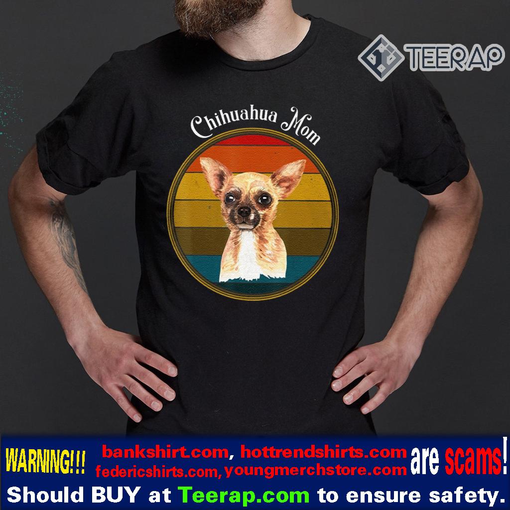 Chihuahua Mom Vintage Sunset Dog Mom Shirt