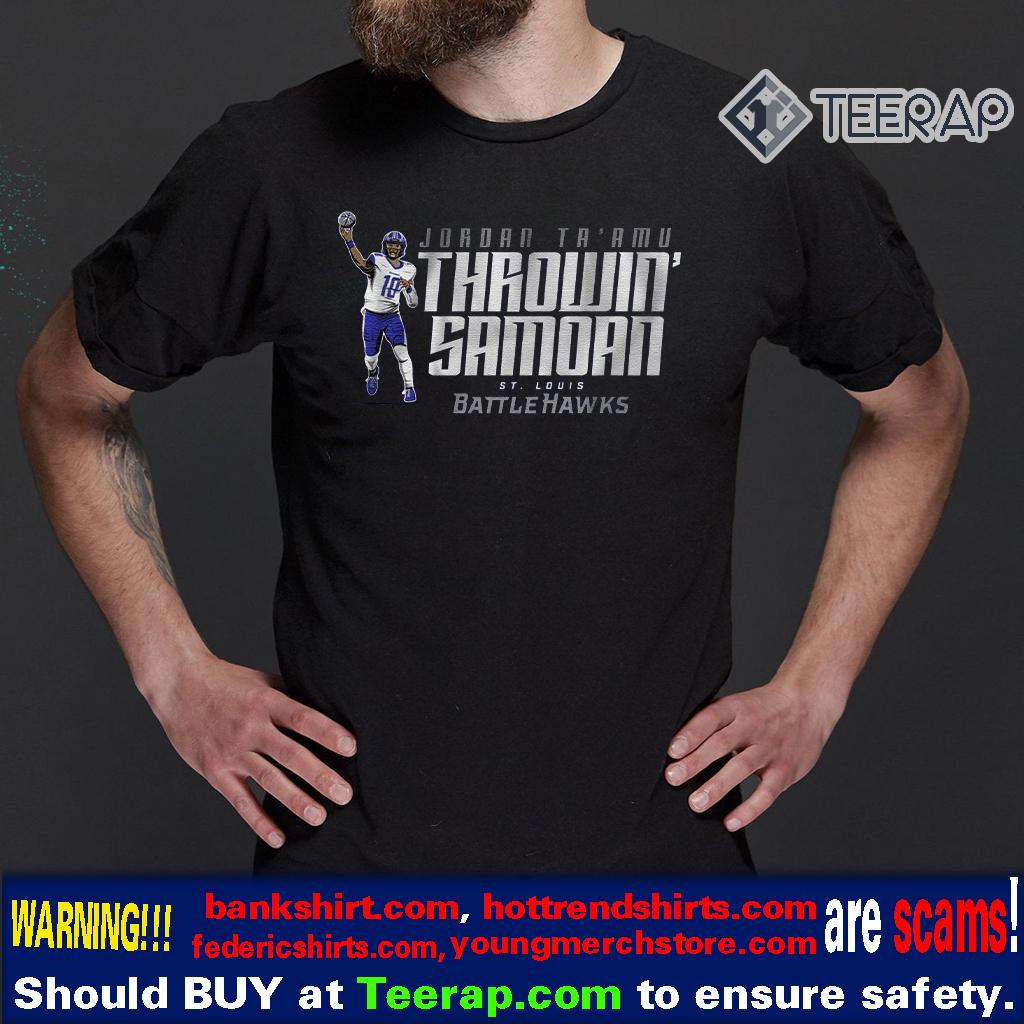 Jordan Ta'am throwin samoan St. Louis Battlehawks Shirt