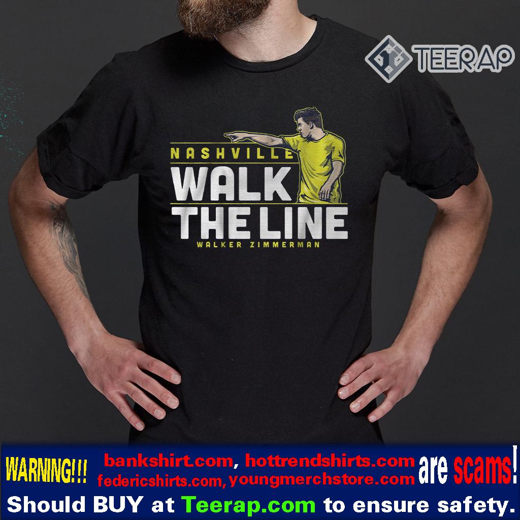 Nashville walk the line t-shirts