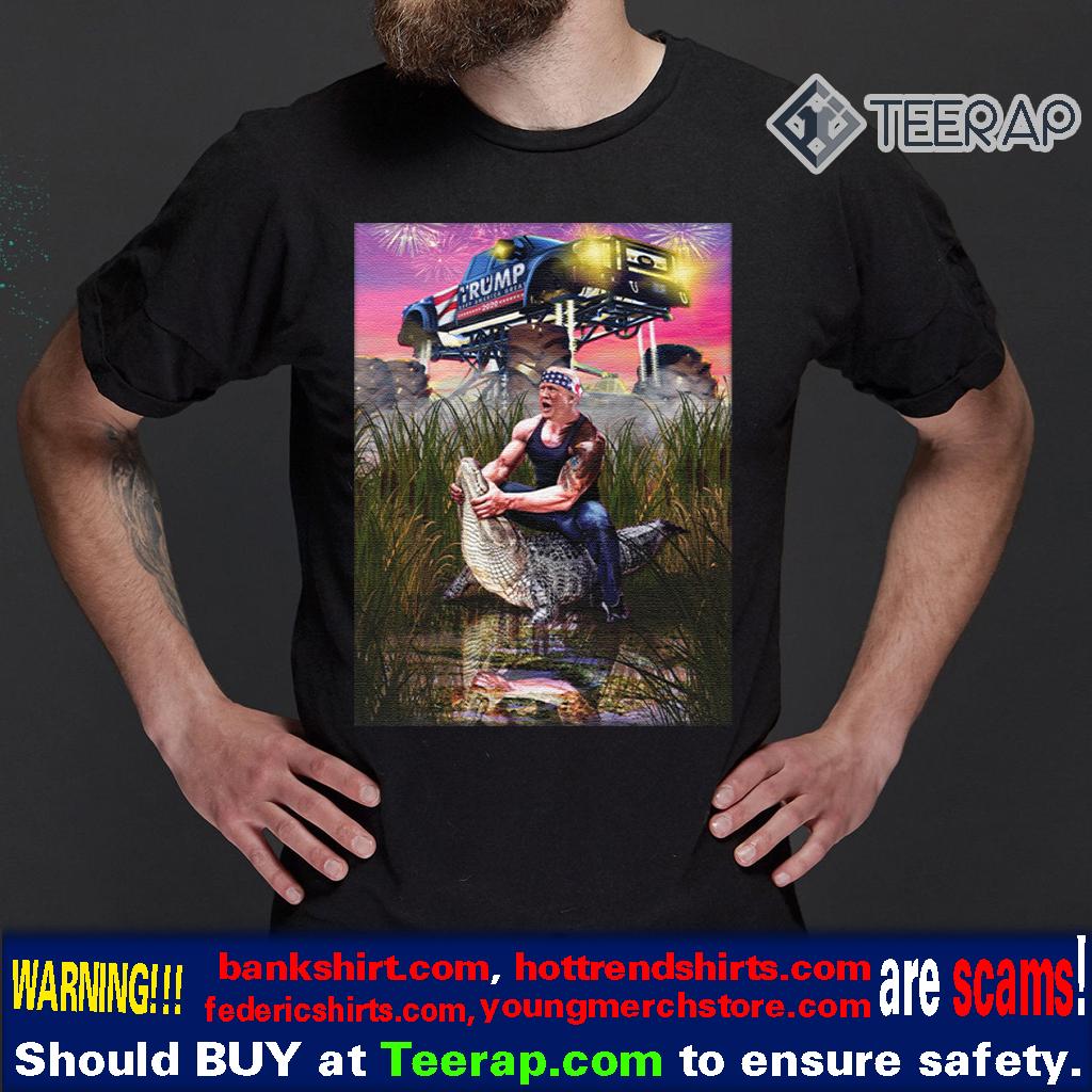Trump Gator Wrestling Funny Trump Lover Shirt