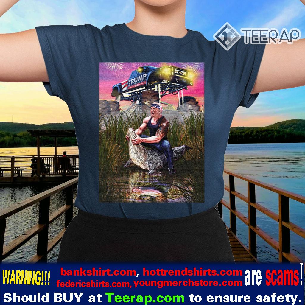 Trump Gator Wrestling Funny Trump Lover Shirts