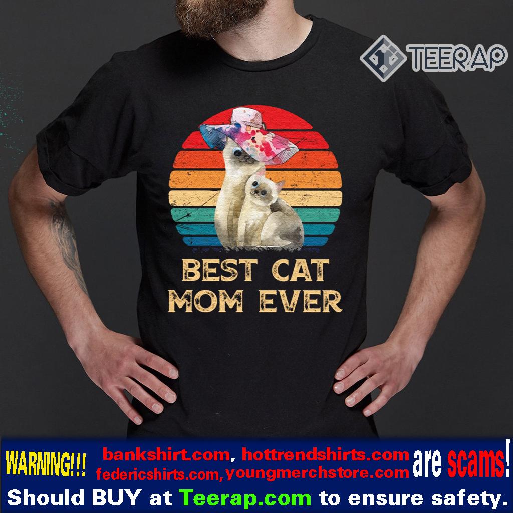 Vintage Best Cat Mom Ever Mother's Day Vintage T-Shirts