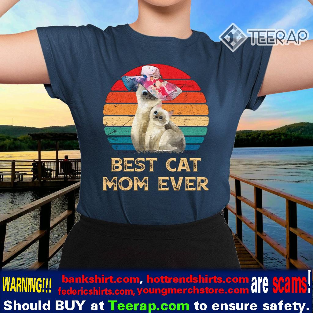 Vintage Best Cat Mom Ever Mother's Day Vintage TShirts
