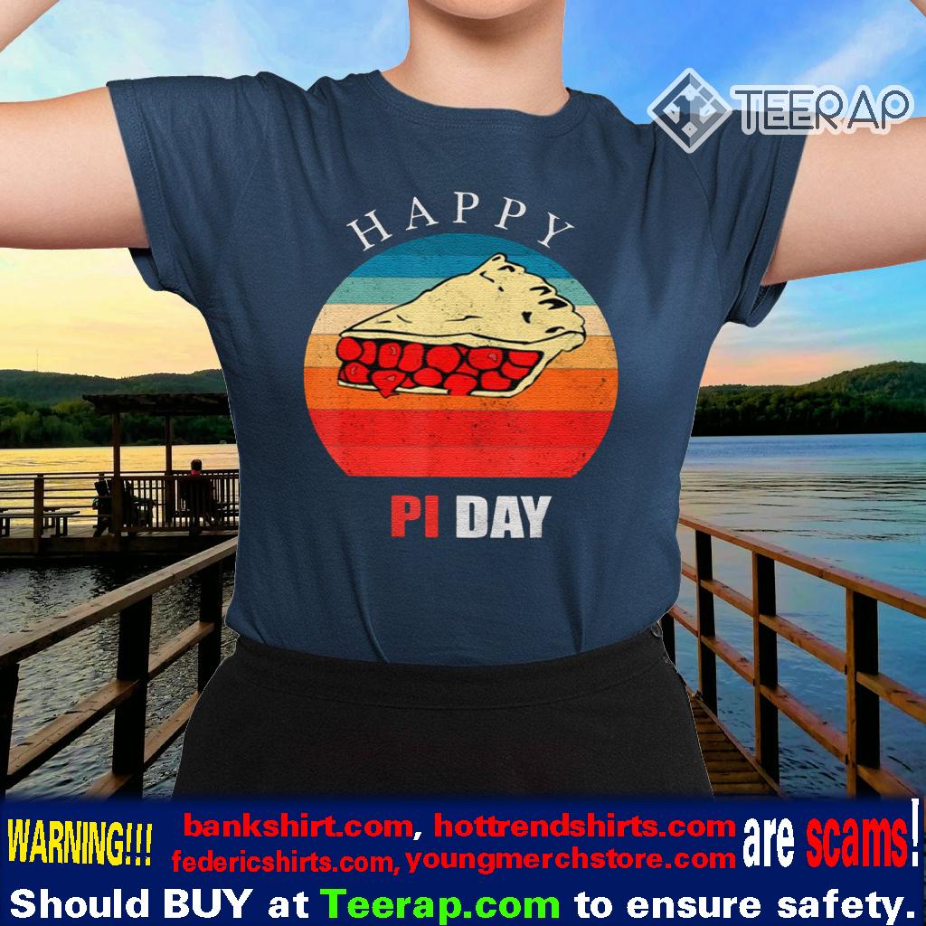 Vintage Pi Day Cherry Pie Math Teacher Happy Pi Shirts
