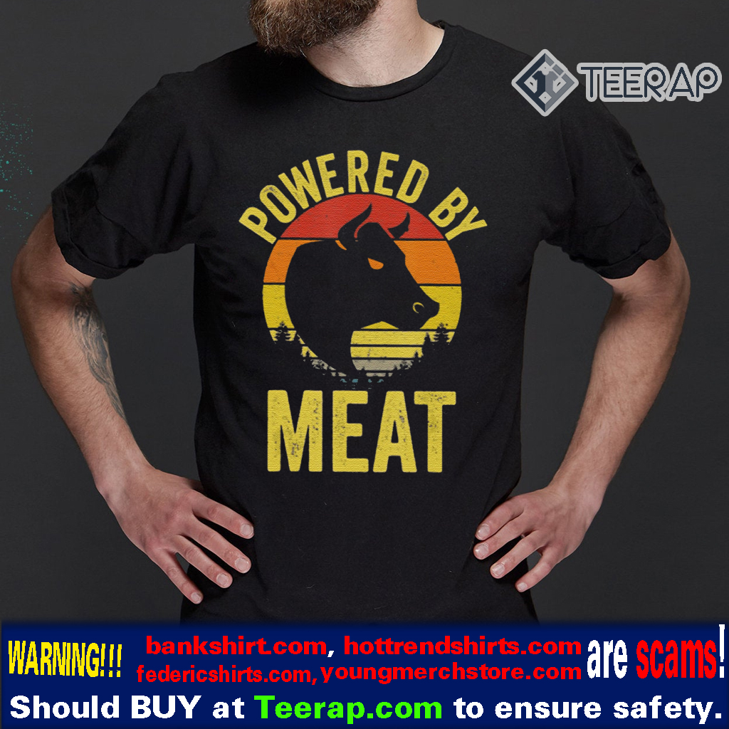 Vintage Powered By Meat Carnivore Meat Eater T-Shirts