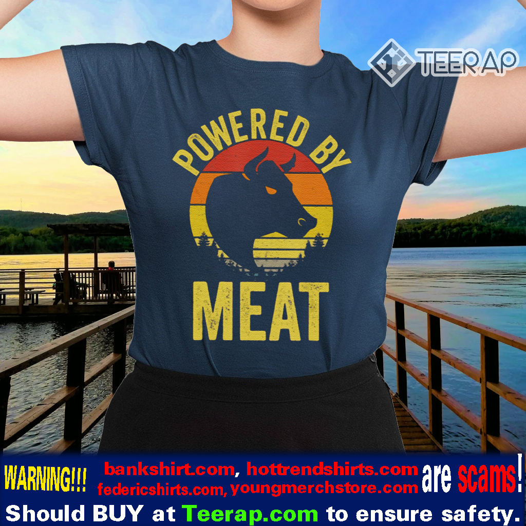 Vintage Powered By Meat Carnivore Meat Eater TShirts
