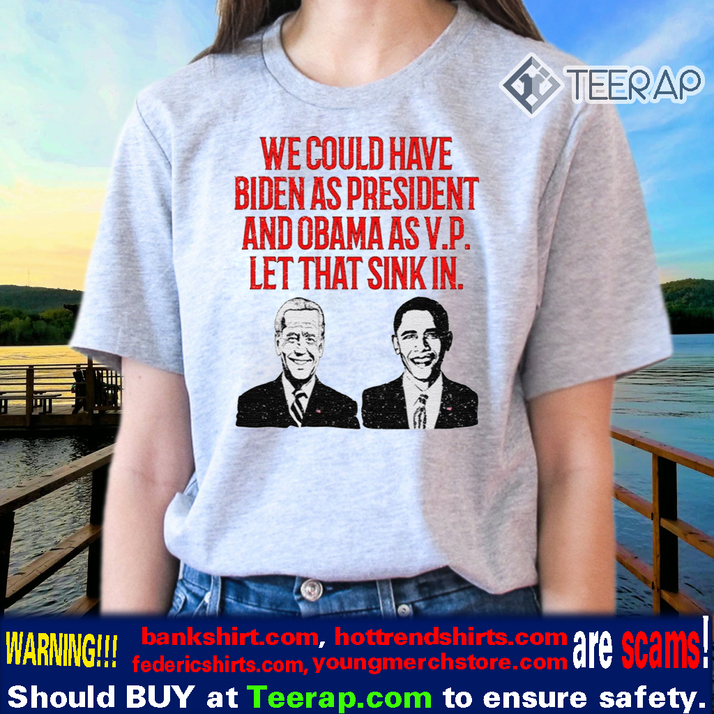 We could have Biden as President and Obama as VP Let that sink in TShirts