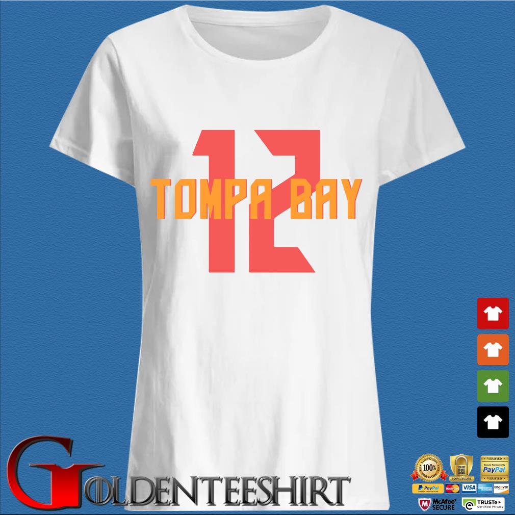 12 Tompa Bay Shirt Trang Ladies