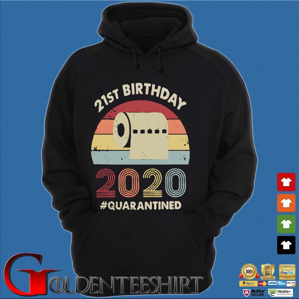 21st Birthday 2020 Quarantine Vintage Shirt Hoodie đen