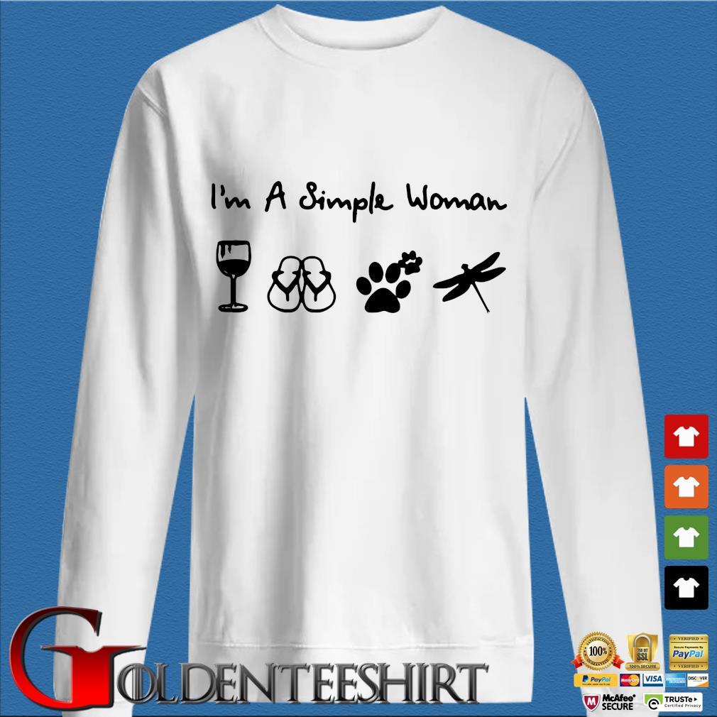 A Simple Woman Crewneck Shirt trang Sweater