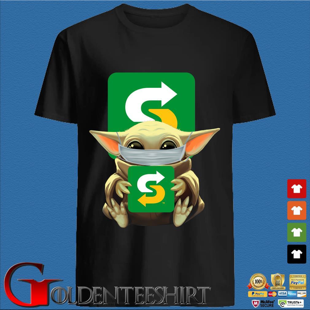 Baby Yoda Mask Hug Subway Shirt