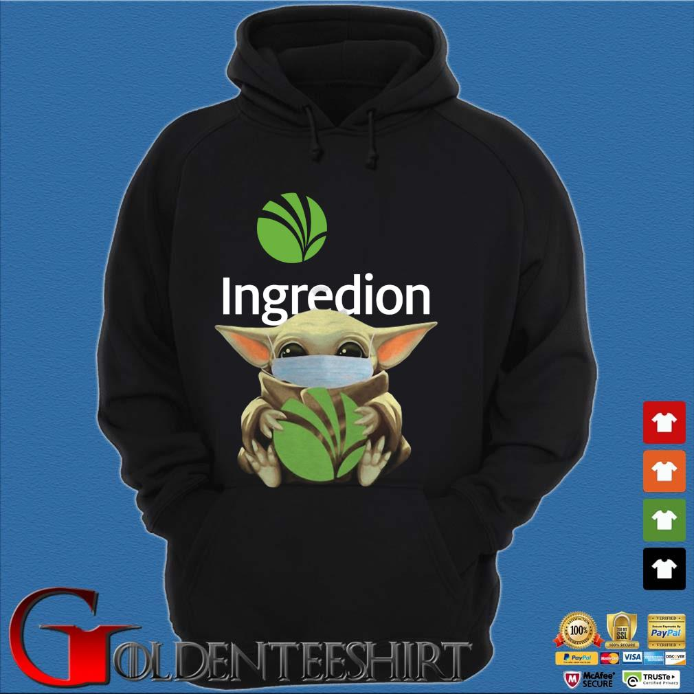 Baby Yoda Mask Ingredion Incorporated Shirt Hoodie đen