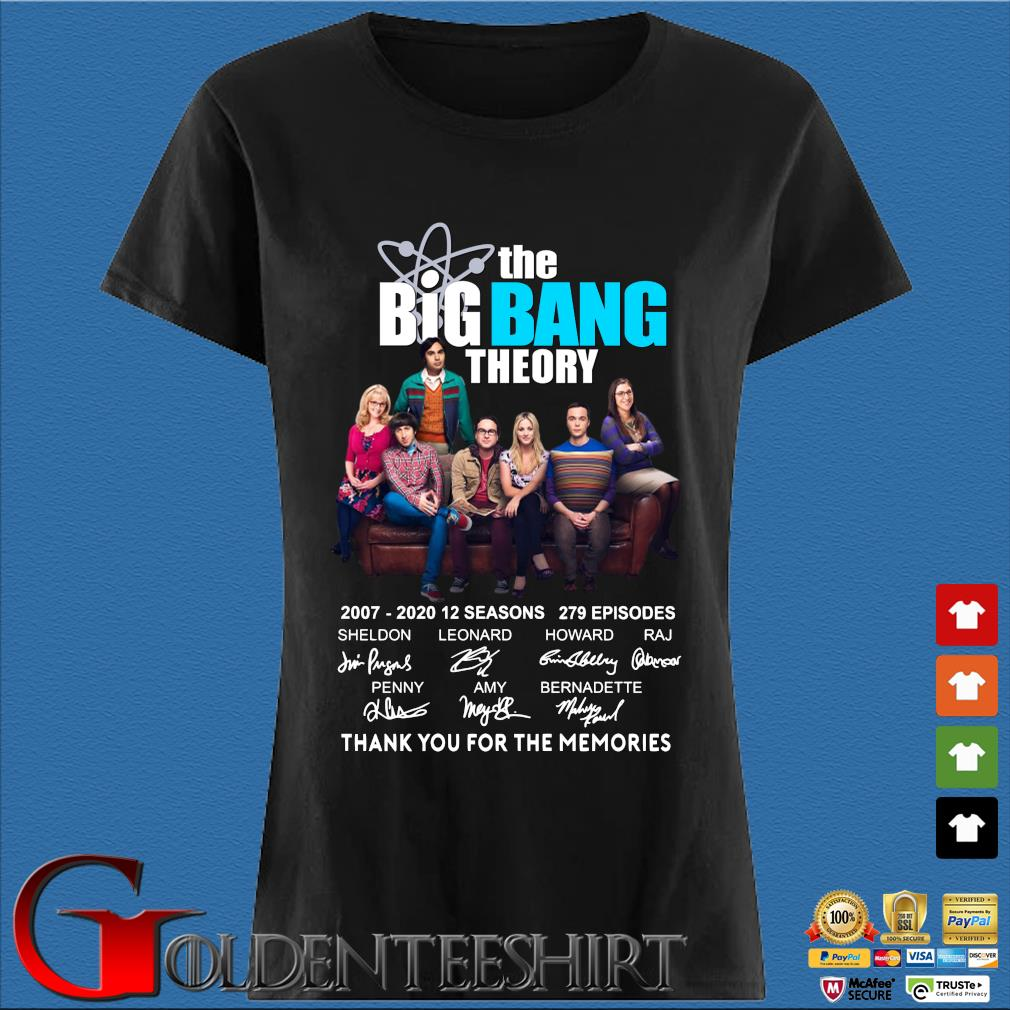 The Big Bang Theory Thank You For The Memories Shirt Den Ladies