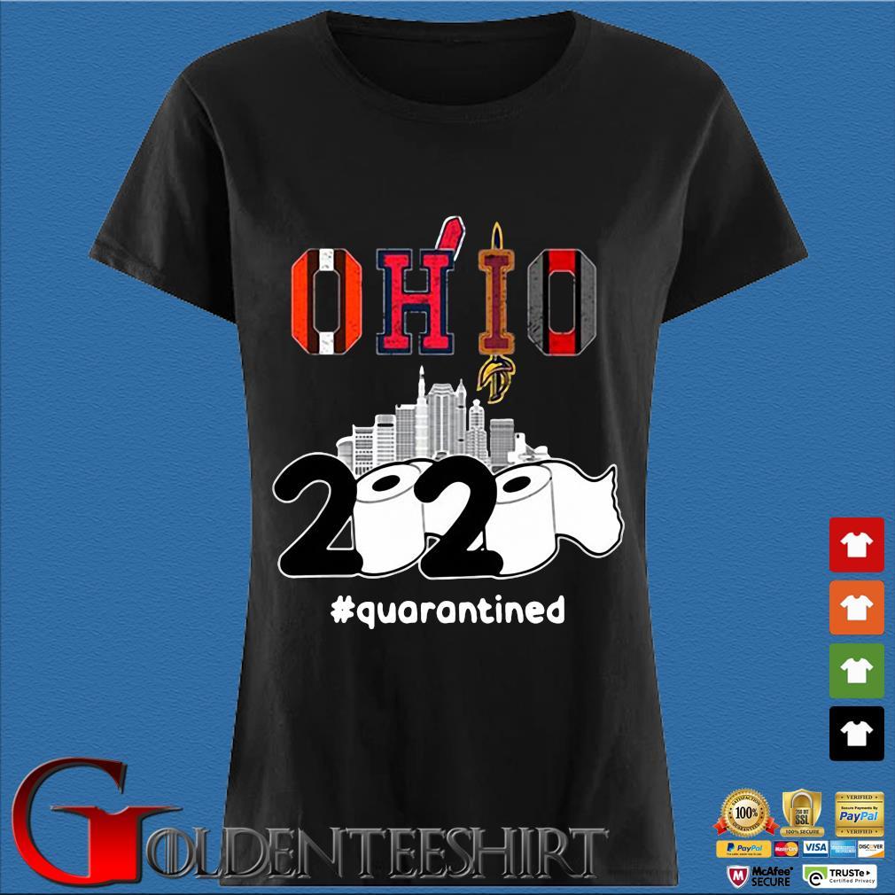 The Cleveland Cavaliers Ohio 2020 #quarantined Shirt Den Ladies