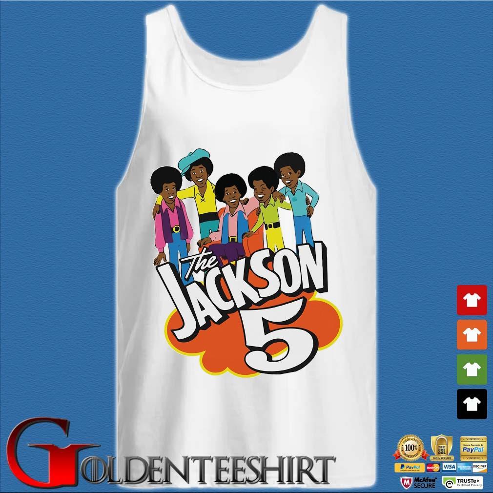 The Jackson 5 Cartoon Shirt Tank top trắng