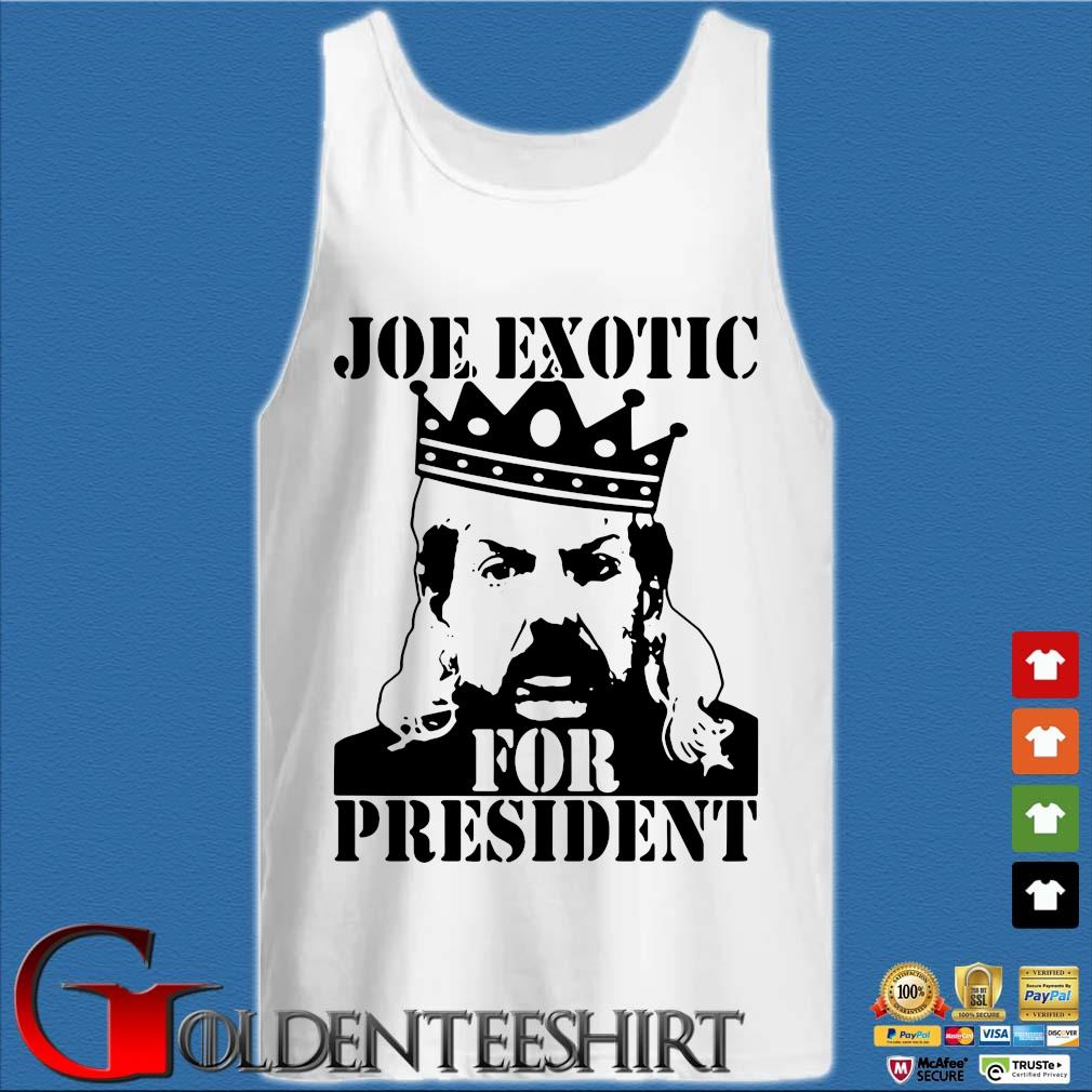 The Tiger King Joe Exotic For President Big Cat 90s T-s Tank top trắng