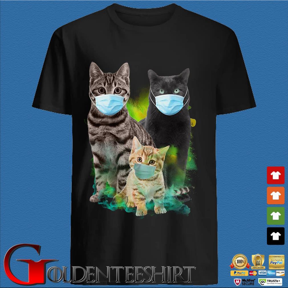 Three Cats Wear Medical Mask Shirt