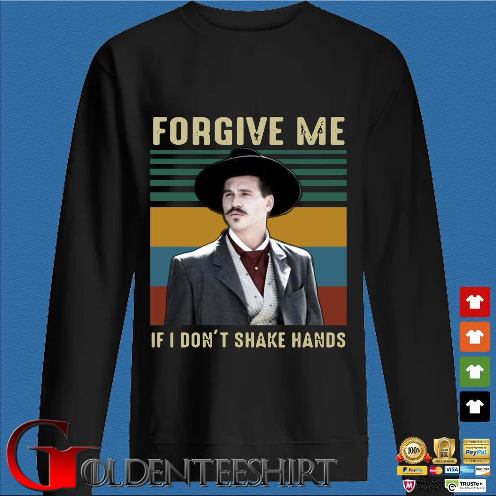 Tombstone Forgive Me If I Don't Shake Hands Vintage Shirt Den Sweater