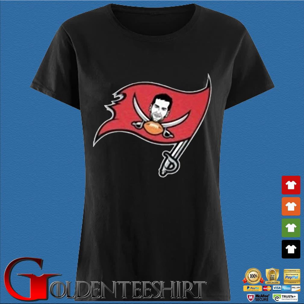 Tompa Bay Flag Tee Shirt – Tom Brady Tampa Bay Buccaneers Shirt Den Ladies