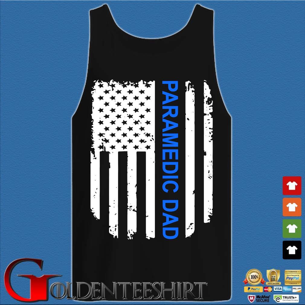 American Flag Proud Paramedic Dad Vintage T-Shirt Tank top den