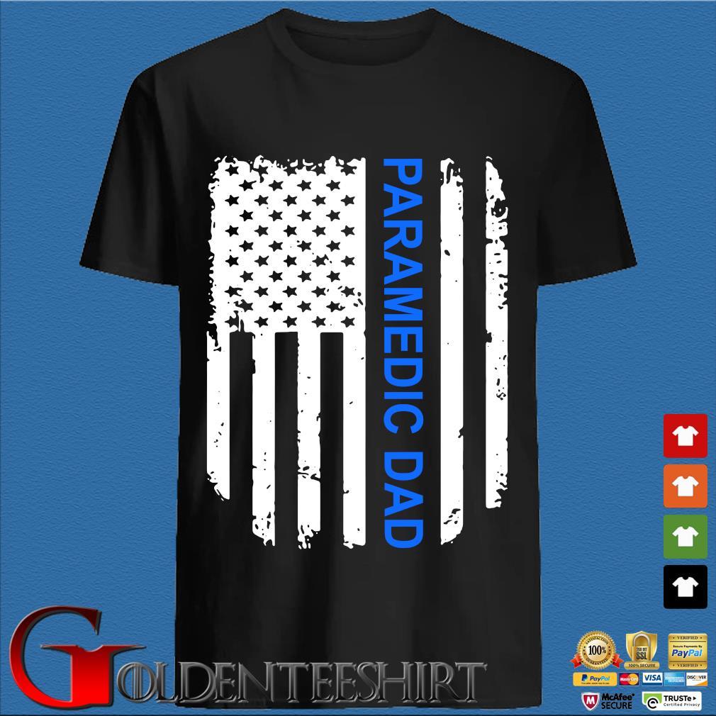 American Flag Proud Paramedic Dad Vintage T-Shirt