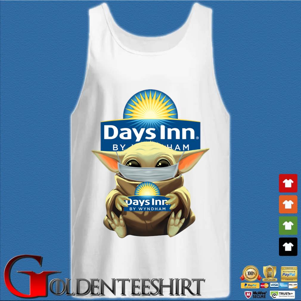 Baby Yoda Mask Hug Days Inn By Wyndham Shirt Tank top trắng
