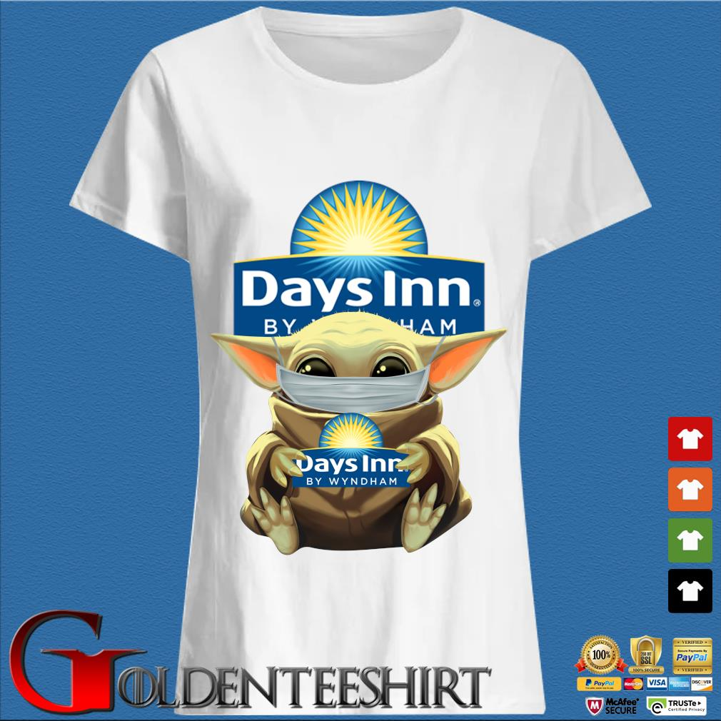 Baby Yoda Mask Hug Days Inn By Wyndham Shirt Trang Ladies