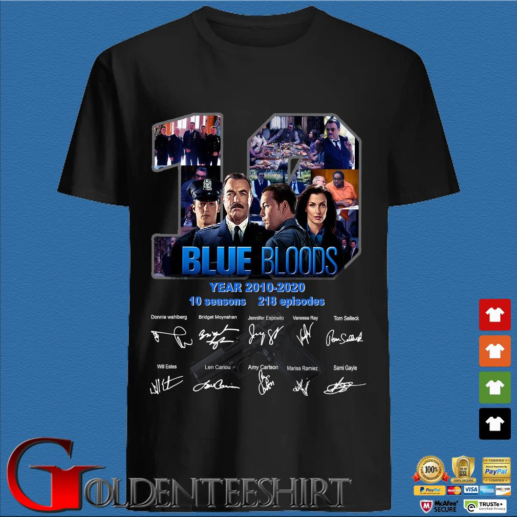 Blue Bloods 10 Years 2010 2020 10 Seasons 218 Episodes Signature Shirt