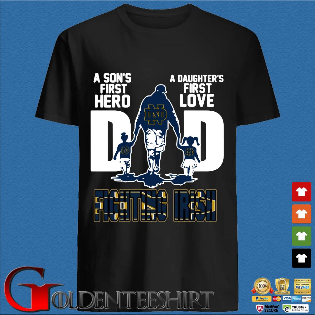 Dad Son And Daughter Notre Dame Fighting Irish Football Shirt