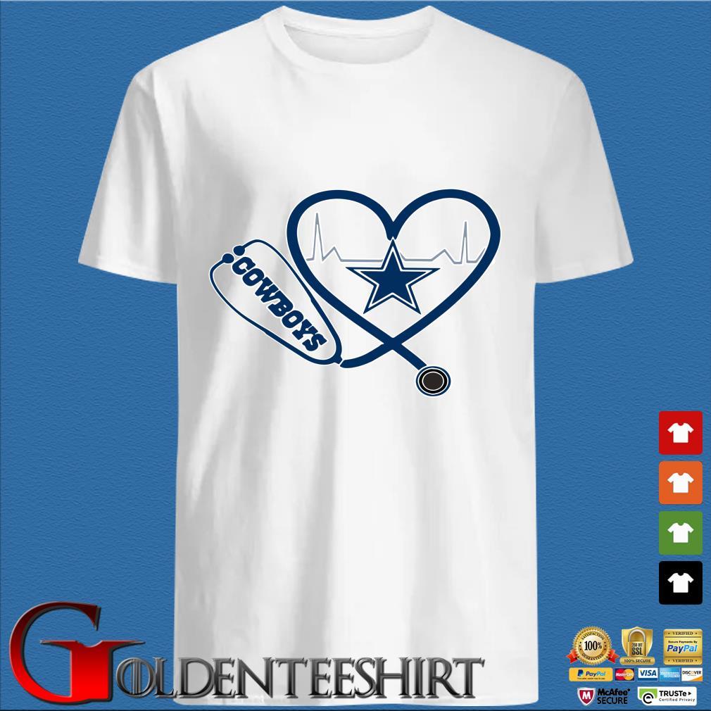 Heartbeat Nurse Love Dallas Cowboys Shirt