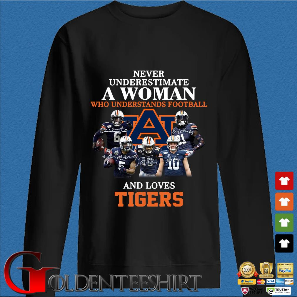 Never Underestimate A Woman Who Understands Football And Love Tiger Shirt Den Sweater
