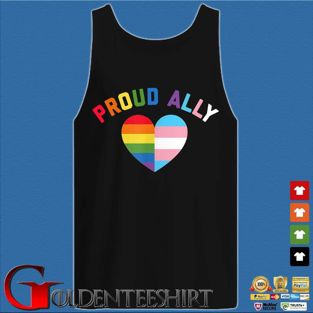 Proud Ally Lgbt Rainbow Heart Shirt Tank top den