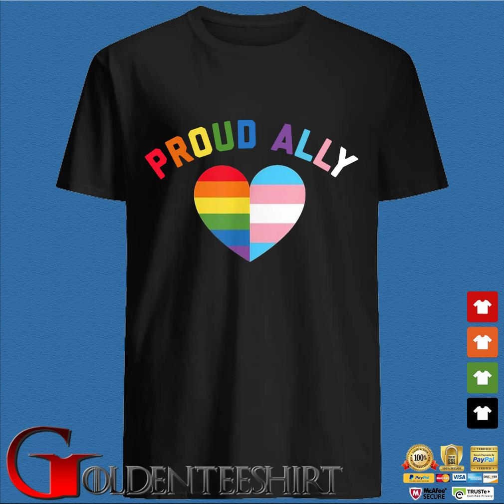 Proud Ally Lgbt Rainbow Heart Shirt