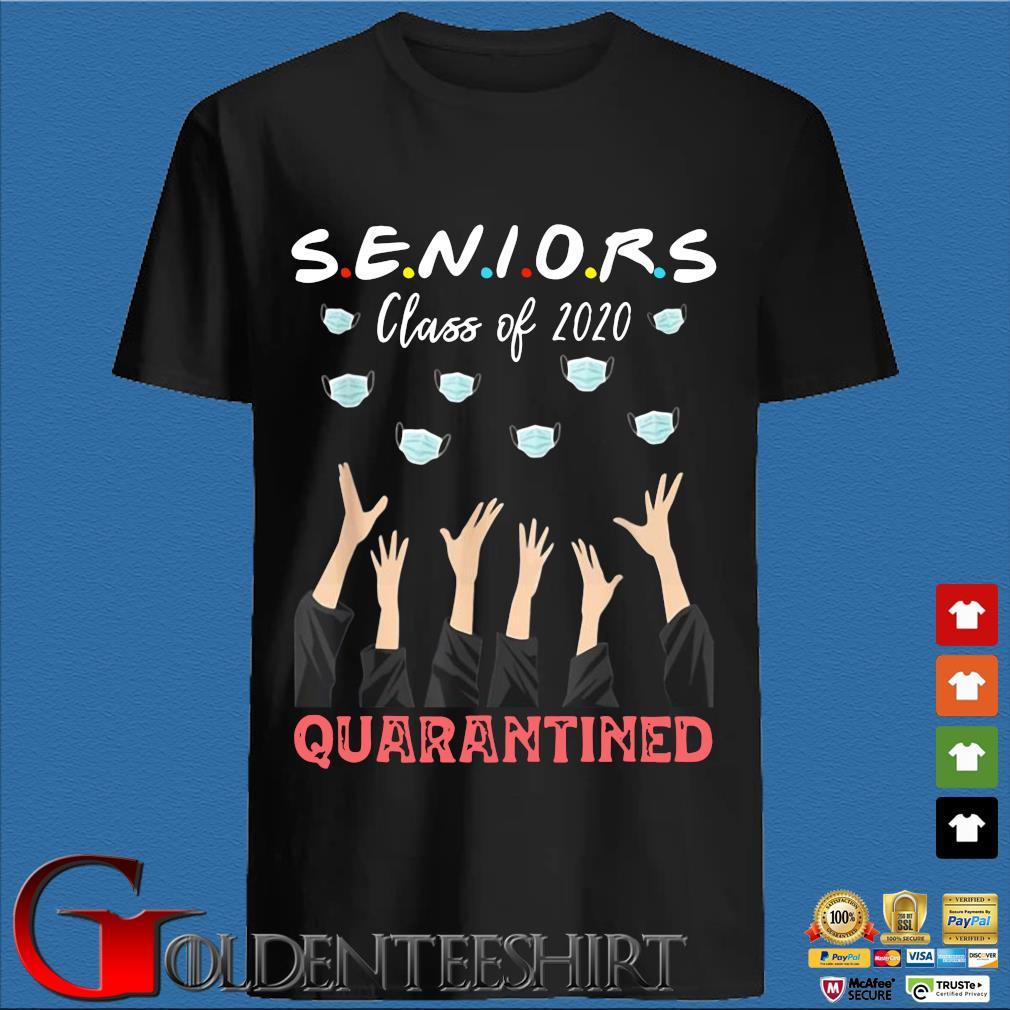 Seniors Class Of 2020 Graduation Face Mask Quarantined Shirt