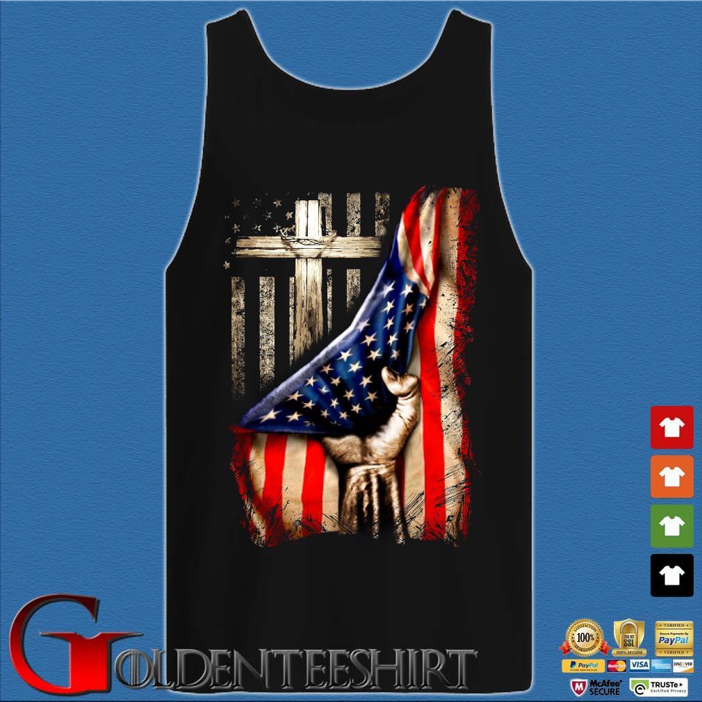 Strong Nurse American Flag Cross Shirt Tank top den