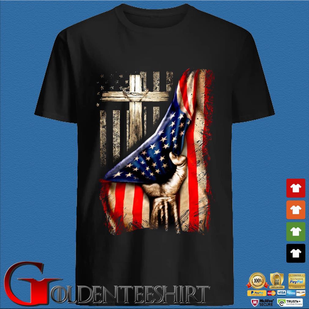 Strong Nurse American Flag Cross Shirt
