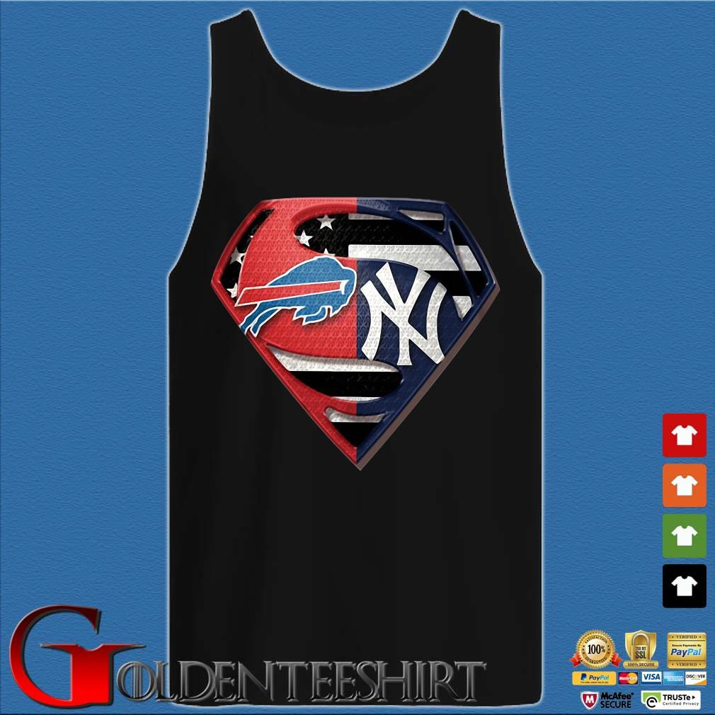 Superman Buffalo Bills And New York Yankees T-Shirt Tank top den
