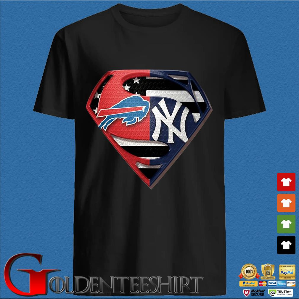 Superman Buffalo Bills And New York Yankees T-Shirt