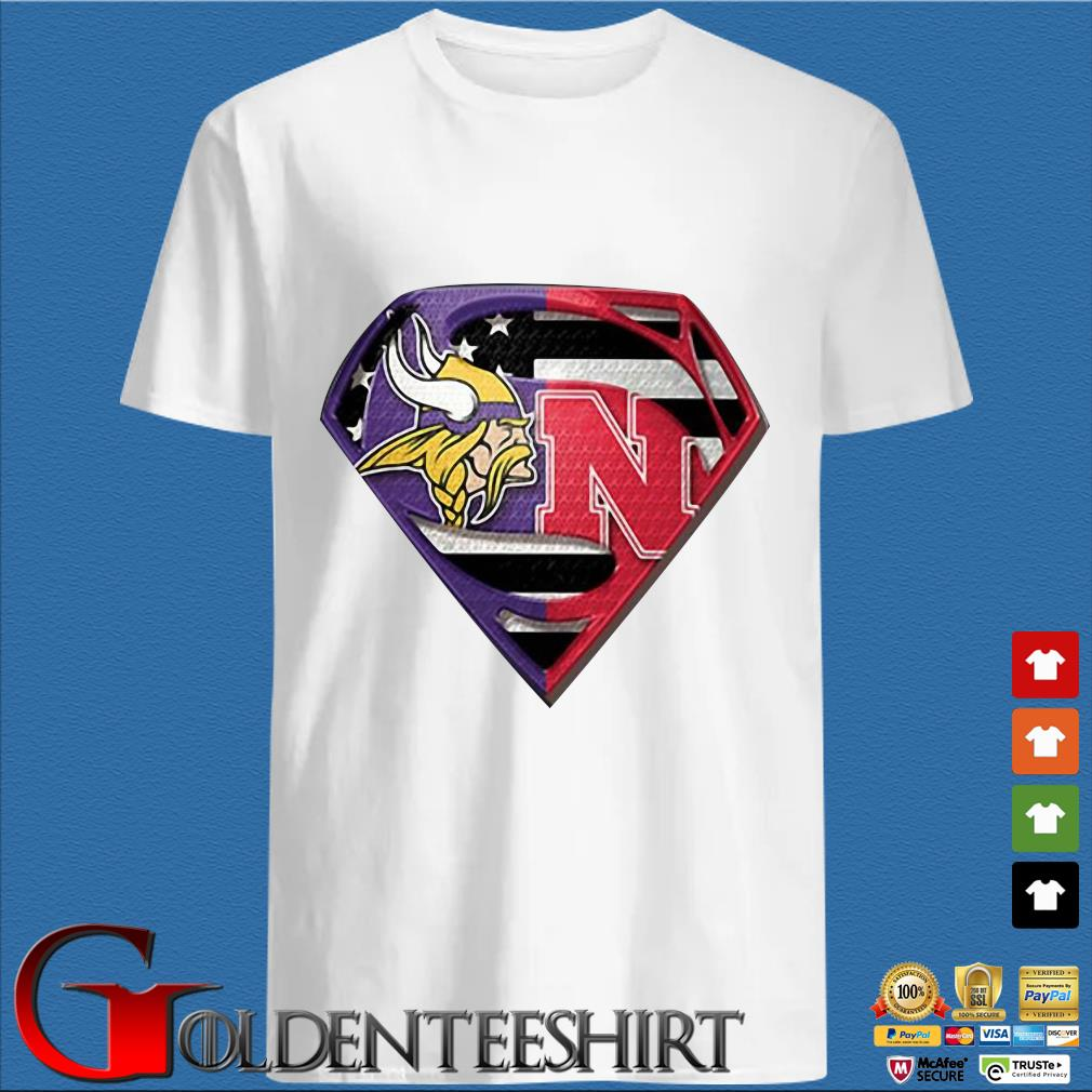 Superman New Minnesota Vikings And Nebraska Cornhuskers Shirt