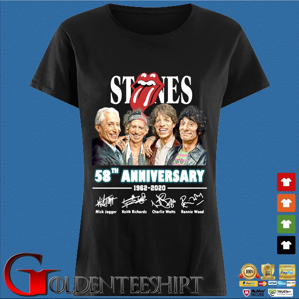 The Rolling Stones 58th Anniversary 1962 2020 Thank You For The Memories Shirt Den Ladies
