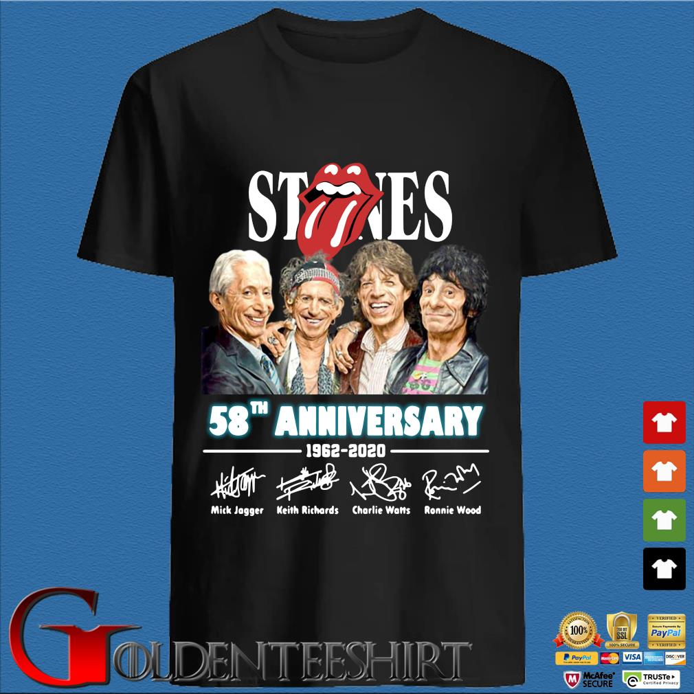 The Rolling Stones 58th Anniversary 1962 2020 Thank You For The Memories Shirt