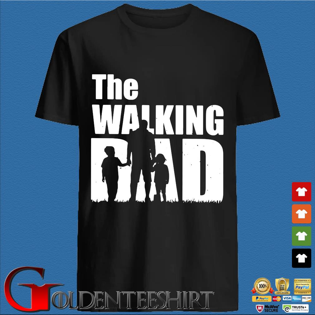 The Walking Dad With Son And Daughter Shirt
